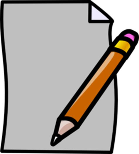 Handwriting in paper clipart